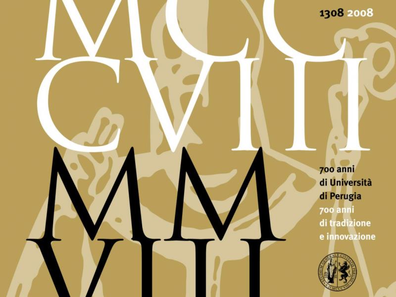 VII Centenario dell'Università degli Studi di Perugia -  Un volume per ripercorrere 700 anni di storia